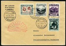 328/Zeppelin Liechtenstein 1931 Polarfahrt Brief MiF 107 Zuleitungspost Si 119