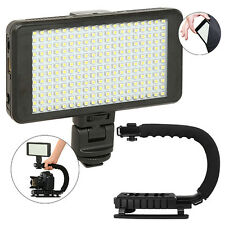 Vidpro LED-230 Video Lighting Kit Diffuser Battery & Charger+ Stabilizing Handle