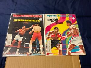 Two vintage Sports Illustrated magazines featuring Muhammad Ali…1970's