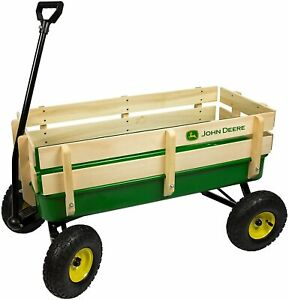 John Deere Steel Stake Wagon Green