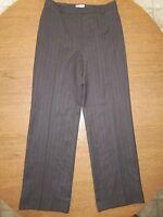 Ann Taylor Loft Women's Gray Pin Stripe Flat Front Dress Pants Size 6 NWOT