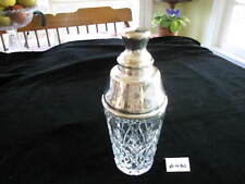 """STUNNING ETCHED-GAINSBOROUGH, (ENGLAND),COCKTAIL SHAKER, 9 3/4""""H, XLNT. COND."""
