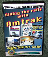 "20252 TRAIN VIDEO DVD BOX SET ""AMTRAK"" RIDING THE RAILS 5-DISC SET"