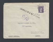 TURKEY 1940s WWII CENSORED COVER TO ISTANBUL MONTREAL CANADA