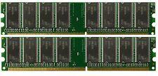 2GB Kit DDR PC3200 LOW DENSITY 2 X 1GB PC 3200 184Pin 400MHz Memory Dual Channel