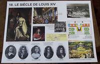 AFFICHE SCOLAIRE ROSSIGNOL  LE SIÈCLE DE LOUIS XIV
