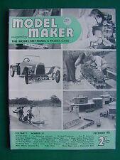 MODEL MAKER MAGAZINE DECEMBER 1951 - RARE EARLY TETHER CAR MAGAZINE