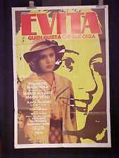 """EVITA"" (1983) 1sh MOVIE POSTER ARGENTINA  JUAN PERON"