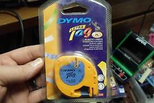 """New listing Dym91335 One Dymo Letratag Plastic Label Tape Cassette 1/2"""" 13'"""