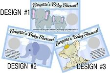 BABY BOY BLUE ELEPHANT SCRATCH OFF OFFS PARTY GAME ELEPHANTS CARDS SHOWER FAVORS