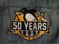 PITTSBURGH PENGUINS JACKET PATCH 50 YEARS ANNIVERSARY STANLEY CUP FINAL CHAMPION