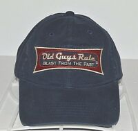 Old Guys Rule Baseball Hat Blast From The Past Strapback Cap One Size Adjustable