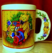 Enesco Joy Bear Holidays Coffee Chocolate Mug Christmas Cup Collectible Kitchen