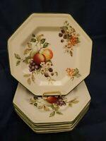 "Set of 5 Johnson Brothers FRESH FRUIT 7.5"" Salad Plates Made in England.   EUC!"