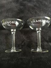 New ListingSet of 2 Chambord Liqueur Coupe Champagne Stemware Barware Drink Glasses New