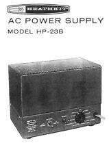 Assembly manual-instrucciones para Heathkit hp-23 B