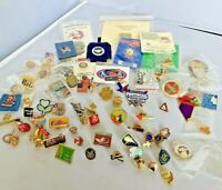 Vintage to Now Lapel Pin Lot of 70 Hat Pin Vegas Estate Thrift Finds Political