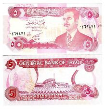 Iraq 5 Dinars Uncirculated note 1992 Emergency Issue