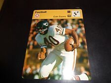 Gale Sayers 1977 Sportscaster Series Recontre Lausanne 05-23 NM Chicago Bears