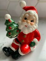Vintage Napcoware Napco Sitting Santa Claus Figurine w/Christmas Tree 8393
