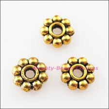 200 New Charms Tiny Daisy Spacer Beads 4mm Antiqued Gold Tone