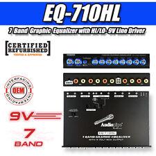 Audiopipe 7 Band Graphic Equalizer with Hi/Lo - 9V Line Driver ( Eq-710Hl ) Rf