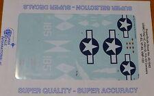 Microscale Decal 1:48  #MS48-1042 / USMC F4U-IC, F4U-1D, FG-1D Corsairs, VF-