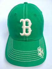 BOSTON RED SOX OFFICIALLY LICENSED ST PATRICKS DAY KELLY GREEN SHAMROCK HAT CAP