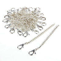20PCS Silver Plated Necklace Chain Extenders Jewelry Finding Making DIY