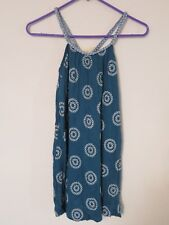 New GIrl's Luna Luna Copenhagen Blue Braided Strap Boutique Tank Dress Size 12