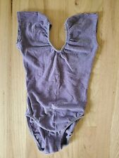 Vintage 80's Stevi Brooks Beverly Hills Medium Leotard One Piece Yoga Purple