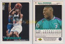 NBA UPPER DECK 1995/96 - Larry Johnson # 12 - Hornets - Ita/Eng - MINT