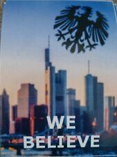 10 x Eintracht Frankfurt Believe Aufkleber Sticker #SGE #Adler #Skyline