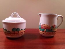 Corelle Coordinates Landscape Creamer and Sugar Bowl with Lid by Corningware