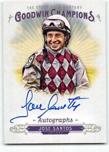 2018 Upper Deck Goodwin Champions Autograph Auto Jose Santos Jockey a