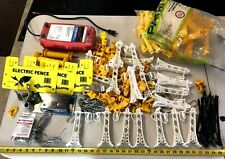 New listing Huge Electric Fence Lot -Red Snap'r 30 Mile Range + T-Post Extenders Insulators+