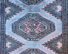Bokhara Pakistan Runner Silk & Wool Blend - 8'1 x 2'6 - 10/20 Quality - Vintage