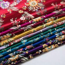 Retro Chinese Satin Floral Fabric Begonia Damask Brocade DIY Bag Costume Qipao