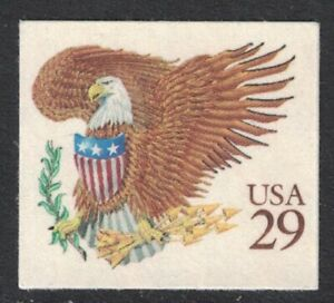 Scott 2595- Eagle and Shield, Brown- Booklet Issue - MNH (S/A) 29c 1992- mint