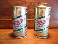 2 - Vintage MILLER HIGH LIFE Steel Beer Cans / Rare Lighter & Coin Bank