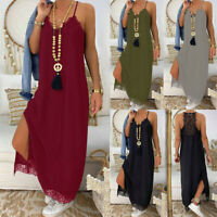Womens Long Warm Dress Slim Plus size Loose Holiday sexy Maxi Wrap Dresses