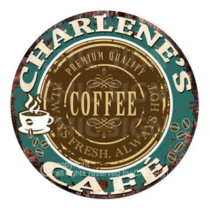 CWCC-0220 CHARLENE'S COFFEE CAFE Sign Valentine Mother's Day Housewarming Gift