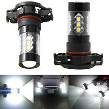 2PCS LED 2504 PSX24W 80W White DRL Fog Light bulb For Chrysler Subaru Jeep Dodge