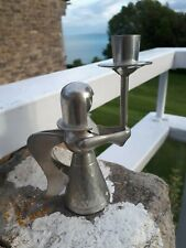 More details for vintage 1970s scandinavian style angel candlestick holder 14cms tall indonesia