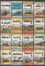 100 verschiedene Eisenbahn Train Leaders of the World postfrisch ** mnh