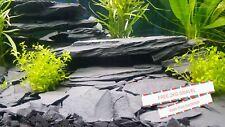 Large 5kg Fish Tank Aquarium Natural Stone Slate Ornament Cave + Free 2kg gravel