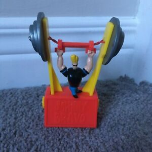 Wendy's 1999 Cartoon Network Johnny Bravo weightlifting toy - tricky trapeze
