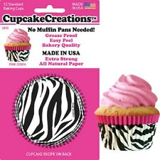 """88902 - """"Pink Zebra"""" Cupcake Creations, No Muffin Pan Required Baking Cups"""