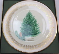 Lenox Limited Christmas Tree Commemorative Plate 1979 Balsam Fir gold trim Mint