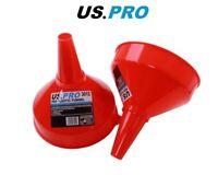 US PRO Red plastic Funnels 195MM Diameter x 2 3012